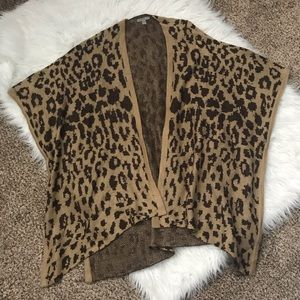 Sweaters - Casting LA Leopard Boutique Sweater Open Cardigan